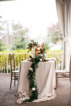 Magnolia Leaves Table Runner - Gold, Bronze and Navy Winter Romance Style Shoot | CJs Off the Square - Garden Weddings in Nashville, Photos by Jen and Chris Creed #winterwedding