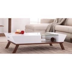 $180 / Kress Glass Insert Coffee Table | Overstock.com Shopping - The Best Deals on Coffee, Sofa & End Tables