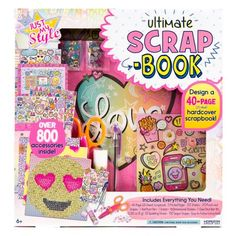 Just My Style Ultimate Scrapbook by Horizon Group USA Page Design, Book Design, Style Scrapbook, Scrapbook Kit, Scrapbooking, Crafts For Kids, Arts And Crafts, Hobby Cnc, Cute School Supplies