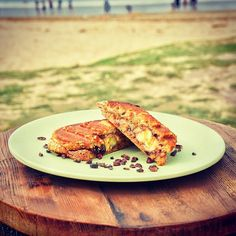 Snacktime @hahlornebeach yummy banana and healthy inhouse made nuttyella jaffle! Tastes great and it's even healthy (don't tell the kids!). Great midway stop while wandering along on the lorne sculpture walk to recharge and refresh. #healthysnack #yum #healthychoices #jaffle #snacktime #greatfood #gourmet #delight #greatoceanroad #visitgreatoceanroad #lovelorne #lornebeach #wandervictoria @lornesculpture @wandervictoria #visitvictoria #Australia #follow by hahlornebeach http://ift.tt/1IIGiLS