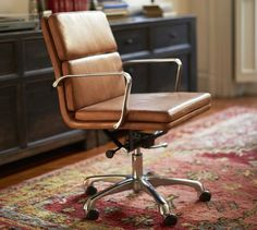 Nash Leather Swivel Desk Chair | Pottery Barn