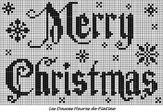 grille Merry christmas by Piatine- This would be absolutely darling with some of the snowflakes from JCS Jan 2013 pgs 58 and 59 (pic pg 57).
