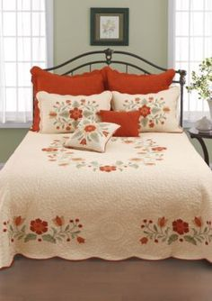 Posy Floral Oversized Quilted Bedspread Bedding Bedding