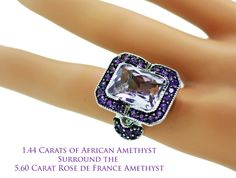 Curations NYC's Lilac & Deep Rich Purple Amethyst Platinum over Sterling Ring