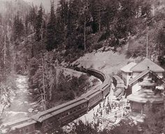 Shast Springs Resort situated between Mt. Shasta and Dunsmuir, California was, at one time, a passenger train stop for rest and refreshment.