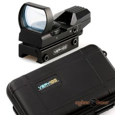 Tactical Holographic 4TYPE Reticle Red/Green Dot Reflex Sight Scope+VERY100 Case For 20mm Rail