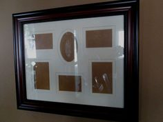 "COLLAGE FRAME - Dark Cherry Wood Stain w/Hobnail Trim, Collage Insert- 16"" x 20"" $32.99"