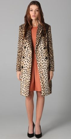 By Malene Birger Rufe Faux Leopard Coat.  sold out, but a girl can dream, right?