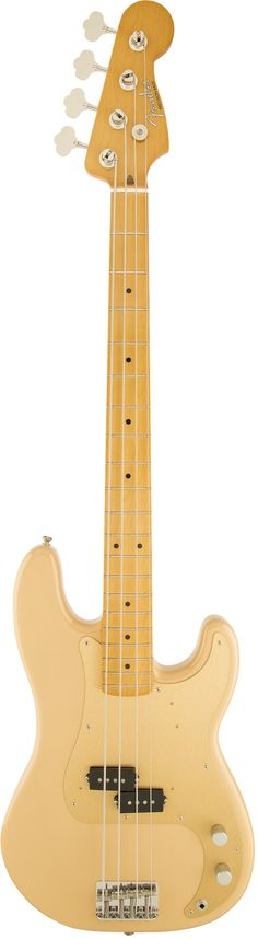 Fender '50s Precision Bass Guitar The '50s Precision Bass guitar delivers the look, sound and vibe of Fender's first basses without breaking the bank. Features include an alder body, maple neck, split