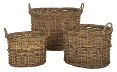 rattan baskets. let's organize!