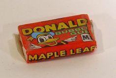 Bubble Gum, en er zat een klein strip verhaal van Donald in