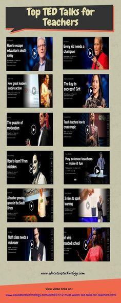 12 Must Watch TED Talks for Teachers | TIC & Educación | Scoop.it
