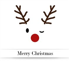 'Merry Christmas Reindeer' by Atzerom Homemade Christmas Cards, Diy Christmas Gifts, Christmas And New Year, Christmas Time, Merry Christmas, Xmas, Christmas Ornaments, Holiday, Christmas Facebook Cover