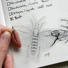 perfect for your journalling, transparent insect stickers #insectart #insectsticker #bujoinspiration