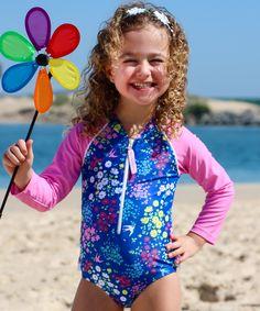 e5483c0f97 Baby Girls Sun Suit Long Sleeve - Swimwear in Liberty Lulu Print