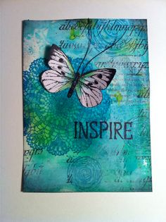 Annes Art place Mixed Media Journal, Mixed Media Canvas, Mixed Media Art, Art Journal Pages, Art Journals, Multimedia Arts, Dragonfly Art, Plate Art, Butterfly Cards
