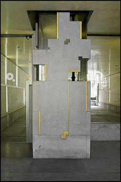 Carlo Scarpa @ Fondazione Querini-Stampalia - Venice [1961-1963] elementi che contengono i termosifoni