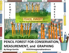 """Pencil Forest....Version II. An extension of """"Penny Pencil, Version I"""". Students will learn about conservation, participate in a community project,and take proper care of their pencils. In addition, math will be introduced in this version,especially graphing.Year-long project. Find at https://www.teacherspayteachers.com/Store/Margo-Gentile"""