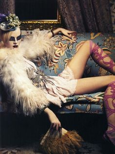 Steven Klein, Mad-Magic-Magnificent: Karen Elson, Roberto Cavalli Spring 2004, Vogue Italia, March 2004