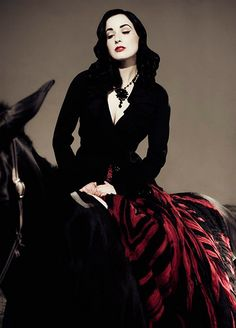 http://pegasebuzz.com/leblog/ | Horse in Fashion with Dita Von Teese by Candy Kennedy for L'Officiel Middle-East, december 2007
