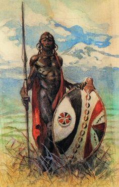 Cap'n's Comics: Masai Warrior by Frank Frazetta