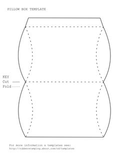 Blank pillow box printable template. Print and color or decorate or design digitally before printing.