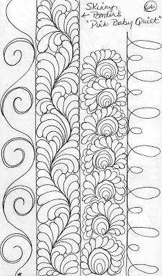 Quilting Sketch Book.....Narrow Border Designs