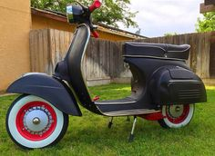 for sale scooter - by owner Manu Janssens  (559) 346-7404 1974 Vespa Super scooter - $2900 (Clovis,ca) Just built, 1974 Vespa Super 150 scooter. Rockabilly hot rod vespa scooter classic black red skins punk custom