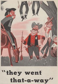 Lynch-mob humor from The Saturday Evening Post.