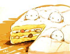 ふわふわのメレンゲでコーティングしたケーキ。「バルティモア婦人のケーキ」などがあります。