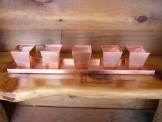 Solid Copper Tray With 5 Copper Planters Copper Planters, Copper Tray, Copper Wall, Corner Moulding, 7th Anniversary Gifts, Handmade Copper, Herbs, How To Make, Etsy