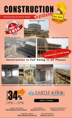 Brick by Brick Construction update - Earth Iconic as on date!