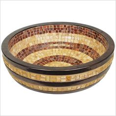 Striped Mosaic Sink
