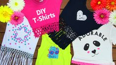 DIY Clothes! DIY 5 T-Shirt Crafts (T-Shirt Cutting Ideas and Projects wi...