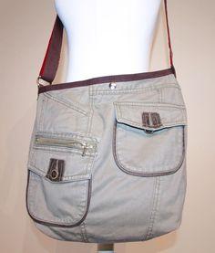 Umhängetaschen - Upcycling Umhängetasche Stofftasche Schultertasche - ein Designerstück von Frau_Liebling bei DaWanda
