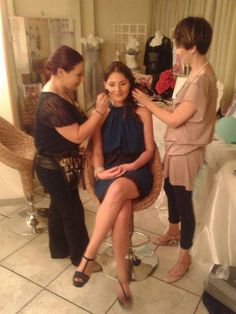 makeup and hairstyle before the interviews http://danielabergamino.wordpress.com/chi-sono/ #IntoTheBeauty