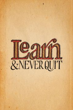 [iPhone Wallpaper – Retina] Learn & Never Quit — Colored