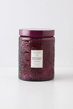 Santiago Huckleberry Candle - sweet and spice, with hints of vanilla pod and sugarcane - from Anthropologie