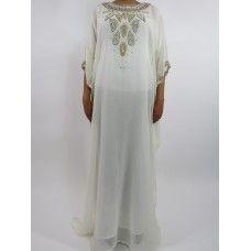 bee75ed46814 Amani's White Short Sleeve Moroccan Occasion Kaftan – Caftan Maxi Dress  Styles UK