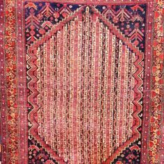 Oh me oh my oh! I absolutely love this rug! It was handwoven in the 20th century in the city of Shiraz, which is in the South of Iran.  The weaver incorporated a stripe motif, which is incredibly rare – adding to it's appeal an element of singularity.  Size: 179cm (l) x 127 (w) Free Delivery in South Africa Home Decor Items, Iran, Free Delivery, South Africa, Bohemian Rug, Hand Weaving, Rugs, City, Farmhouse Rugs