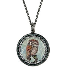 Love this Spirit Lala Owl 'Braver And Stronger' Pendant Necklace by Spirit Lala on #zulily! #zulilyfinds