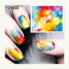 [Visit to Buy] YZWLE 1 Sheet DIY Decals Nails Art Water Transfer Printing Stickers Accessories For Manicure Salon (YZW-161) #Advertisement