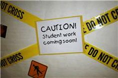 Beginning of School Year Idea for Bulletin Board- I had this idea, but with more of a construction theme. Love it.