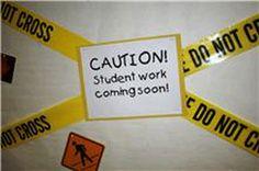Beginning of School Year Idea for Bulletin Board