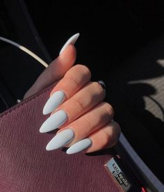 Keep your nails shiny together with bold. Acrylic nails is comparable to fake nails, you are in need of a coat to cover before you set it upon your nails. Acrylic coffin nails might be quite beautiful, but a great… Continue Reading → Almond Nail Art, Almond Acrylic Nails, Cute Acrylic Nails, Acrylic Nail Designs, Long Almond Nails, Cute Almond Nails, Fake Nail Designs, Fake Nail Ideas, Acrylic Nails Light Blue
