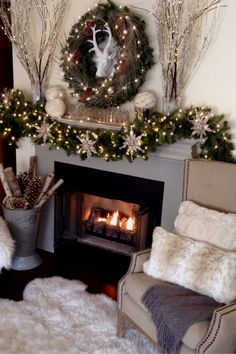 Below are the Christmas Fireplace Decor Ideas. This post about Christmas Fireplace Decor Ideas was posted under the category. Classy Christmas, Cozy Christmas, Rustic Christmas, Beautiful Christmas, Christmas Design, Xmas, Flores Diy, Christmas Fireplace Mantels, Mantle
