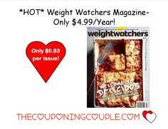 Weight Watchers Magazine is is only $4.99/year! What great motivation and encouragement on your journey! A one year subscription is the same price as a single issue on the newsstand!  Click the link below to get all of the details ► http://www.thecouponingcouple.com/weight-watchers-magazine-only-4-99yea/  #Coupons #Couponing #CouponCommunity  Visit us at http://www.thecouponingcouple.com for more great posts!