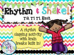 Rhythm & Shake {Rhythm Clapping with Brain Breaks}:  Ta, T