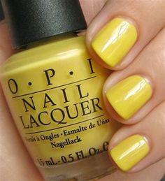 love this for a spring nail color (banana bandana by OPI)