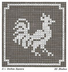 Sentimental Baby: Filet Crochet or Cross Stitch Animal Motifs